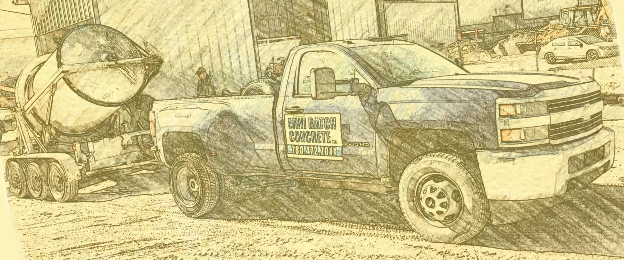 Ready Mix Concrete Edmonton Small Batches Fence Post